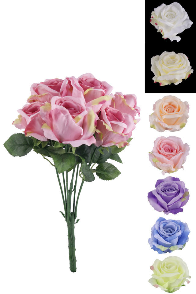 ROSE ROSES ARTIFICIAL ARTIFICIALS FLOWERS FLOWER HEAD HEADS TEA TEAS BUSH BUSHES