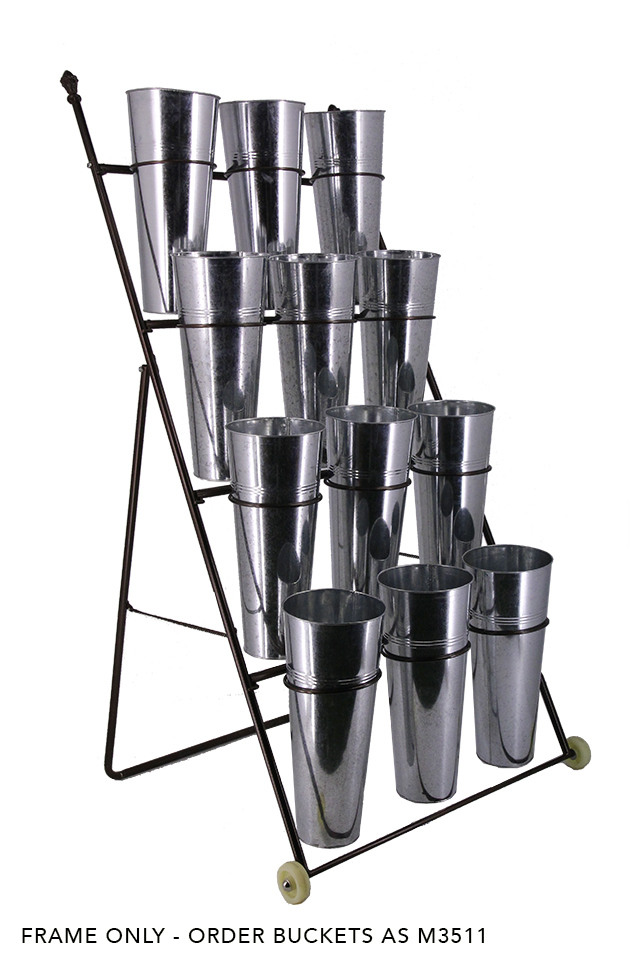 DISPLAY DISPLAYS DISPLAIE STAND STANDS TROLLEY TROLLEYS TROLLEIE FLOWER FLOWERS FLORIST FLORISTS FLORAL FLORALS SHOP SHOPS RACK RACKS VASE VASES WHEELS WHEEL METAL METALS BUCKETS BUCKET