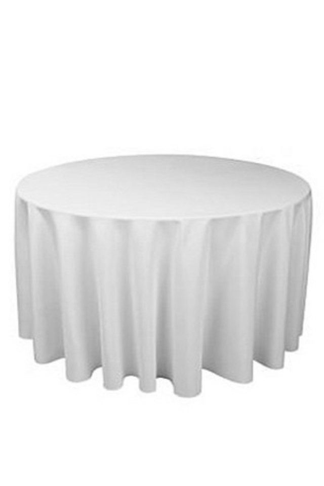 Polyester Round Table Cover Overlocked, Round Table Cover