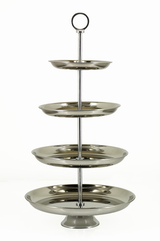 4 Tier Cup Cake Stand White Enamel 30 X 52cmh Holstens